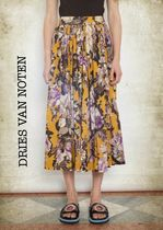Dries Van Noten Flower Patterns Elegant Style Skirts