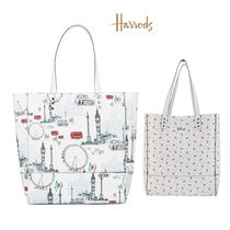Harrods Casual Style A4 2WAY Elegant Style Logo Shoulder Bags