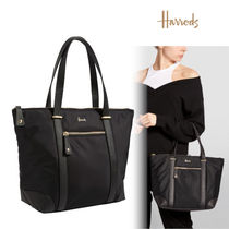 Harrods Casual Style A4 Elegant Style Logo Totes