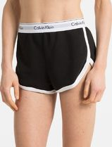 Calvin Klein Short Casual Style Blended Fabrics Street Style Plain Cotton