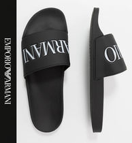 EMPORIO ARMANI Street Style Shower Shoes Logo Shower Sandals