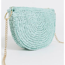 & Other Stories Casual Style Canvas Blended Fabrics Chain Plain Crossbody