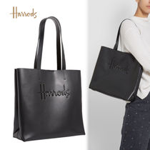 Harrods Casual Style Unisex A4 Leather Office Style Elegant Style