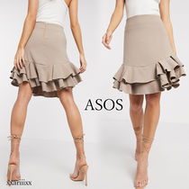 ASOS Pencil Skirts Flared Skirts Casual Style Plain Medium