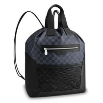 Louis Vuitton DAMIER COBALT Unisex Canvas Street Style 2WAY Leather Logo Backpacks