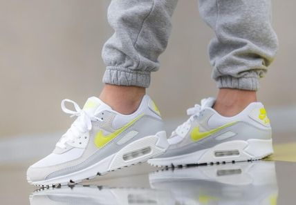 Nike AIR MAX 90 Rubber Sole Casual Style Street Style Plain Low-Top Sneakers