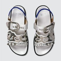 TOGA Rubber Sole Casual Style Blended Fabrics Leather Python