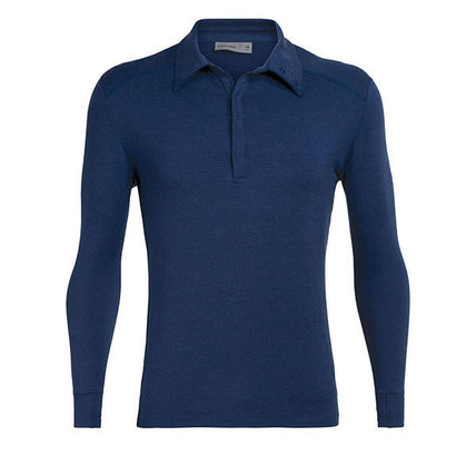 Pullovers Wool Long Sleeves Plain Shirts