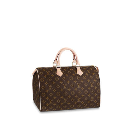 Louis Vuitton SPEEDY Monogram Leather Boston & Duffles