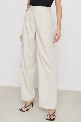 Casual Style Plain Long Office Style Formal Style  Pants