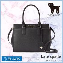 kate spade new york CAMERON STREET Casual Style 2WAY Plain Leather Elegant Style Crossbody Logo