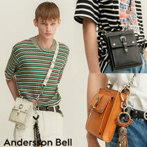 ANDERSSON BELL Casual Style Unisex Street Style Plain Leather Shoulder Bags