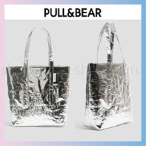 PULL & BEAR Casual Style Street Style A4 Plain Office Style
