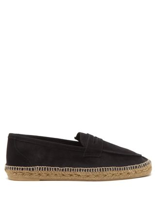 Loafers Unisex Suede Blended Fabrics Street Style Plain Logo