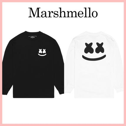 Marshmello Long Sleeve Street Style Long Sleeves Cotton Long Sleeve T-shirt