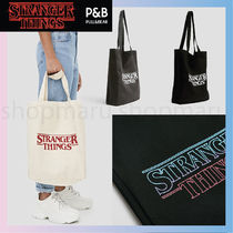 PULL & BEAR Casual Style Street Style A4 Plain Formal Style  Totes