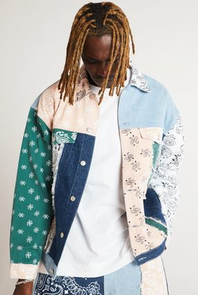 JADED LONDON Paisley Denim Street Style Denim Jackets Jackets