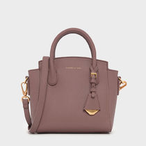 Charles&Keith Stripes Casual Style 2WAY Office Style Elegant Style