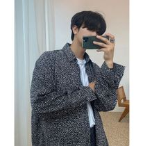 ASCLO Leopard Patterns Short Sleeves Oversized Shirts