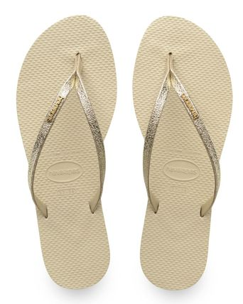 Open Toe Rubber Sole Casual Style Plain Flip Flops Glitter