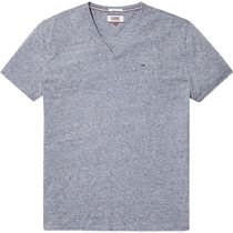 Tommy Hilfiger V-Neck Plain Cotton Short Sleeves Logo V-Neck T-Shirts