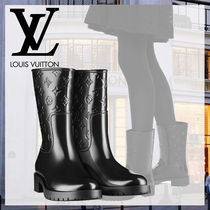 Louis Vuitton Monogram Rubber Sole Rain Boots Boots