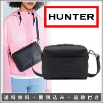 HUNTER Stripes Casual Style Bag in Bag 2WAY Plain Leather