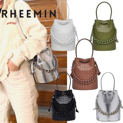 Leather Elegant Style Formal Style  Handbags