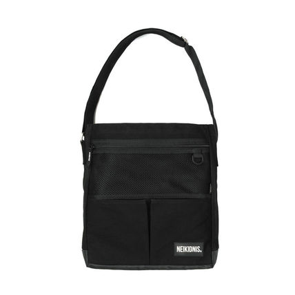 Unisex Canvas Street Style A4 2WAY Logo Shoulder Bags