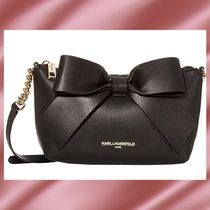 Karl Lagerfeld Casual Style Leather Elegant Style Crossbody Shoulder Bags