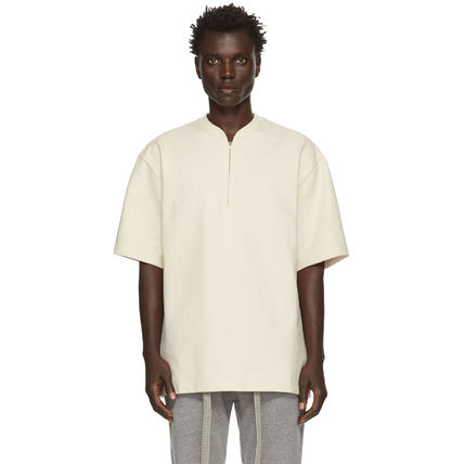 FEAR OF GOD Pullovers Henry Neck Street Style Plain Cotton Short Sleeves