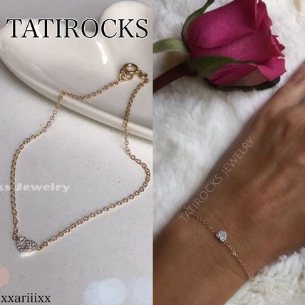 Casual Style Chain 14K Gold Elegant Style Bracelets