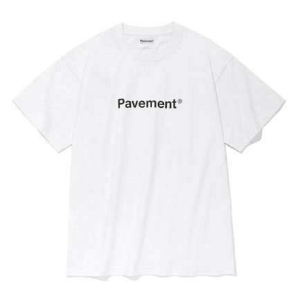 Unisex Street Style Cotton Medium Logo T-Shirts
