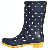 Joules Clothing Flower Patterns Dots Round Toe Rubber Sole Plain