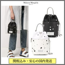 Maison Margiela 5AC Dots Casual Style 2WAY Chain Leather Party Style Purses
