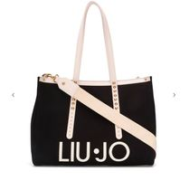 LIU JO Casual Style Street Style Office Style Logo Totes