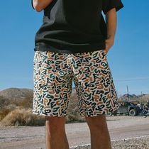 WKNDRS Printed Pants Leopard Patterns Street Style Cotton Shorts