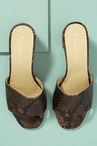 Anthropologie Open Toe Casual Style Unisex Blended Fabrics Street Style