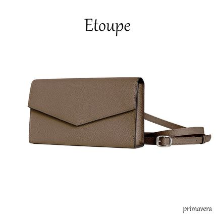 Crossbody Formal Style  Casual Style 2WAY Plain Leather