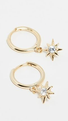 Costume Jewelry Star Unisex Party Style 18K Gold With Jewels