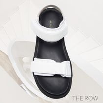 The Row Open Toe Casual Style Plain Leather Sport Sandals
