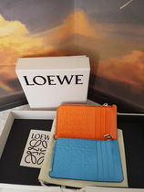 LOEWE Leather Long Wallet  Coin Cases