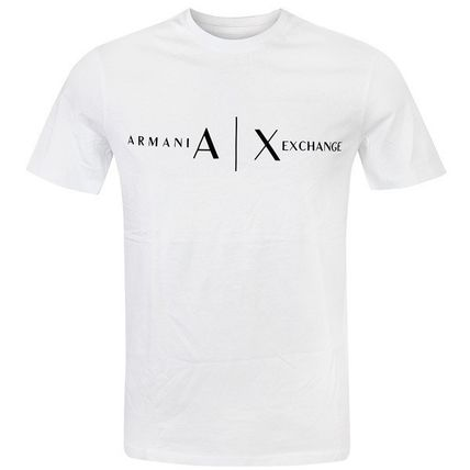 A/X Armani Exchange Logo V-Neck Plain Cotton Short Sleeves V-Neck T-Shirts