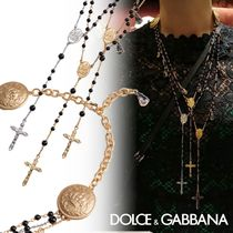 Dolce & Gabbana Costume Jewelry Casual Style Rosary Chain Brass With Jewels