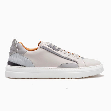 Suede Street Style Plain Leather Logo Sneakers