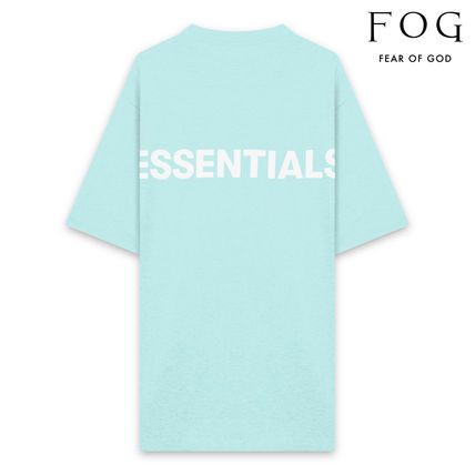 FEAR OF GOD Crew Neck Crew Neck Unisex Street Style Cotton Short Sleeves Logo