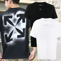 Off-White Crew Neck Street Style Cotton Short Sleeves Logo