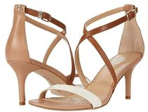 Ralph Lauren Open Toe Casual Style Plain Leather Pin Heels Party Style