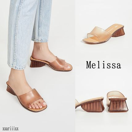 Open Toe Rubber Sole Blended Fabrics PVC Clothing Sandals