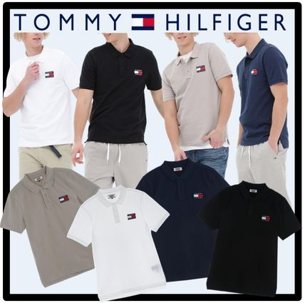 Tommy Hilfiger Street Style Short Sleeves Polos